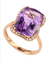 Effy Collection 14k Rose Gold and Amethyst Ring