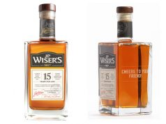 .P. Wiser's award-winning 15 Year Old whisky engraved