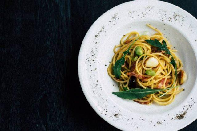 dish of spigetti
